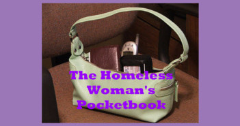 homeless woman's pocketbook