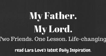 My Father My Lord www.walkbyfaithministry.com