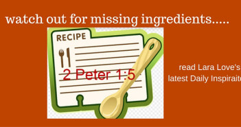 missing ingredients - 1 Peter 5 - www.walkbyfaithministry.com
