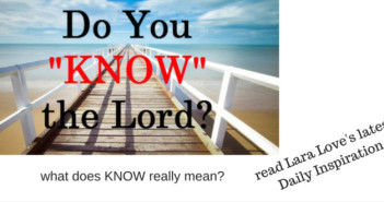 know the Lord www.walkbyfaithministry.com