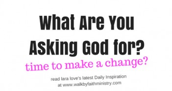 what are you asking God for