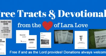 Free tracts and devotionals graphic done on Canva