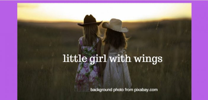 little girl with wings pixabay