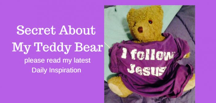secret about my teddy bear