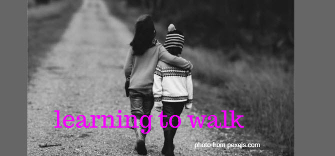 learning to walk pexels