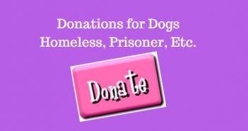 Donations for Dogs, Homeless, Prisoners Etc.