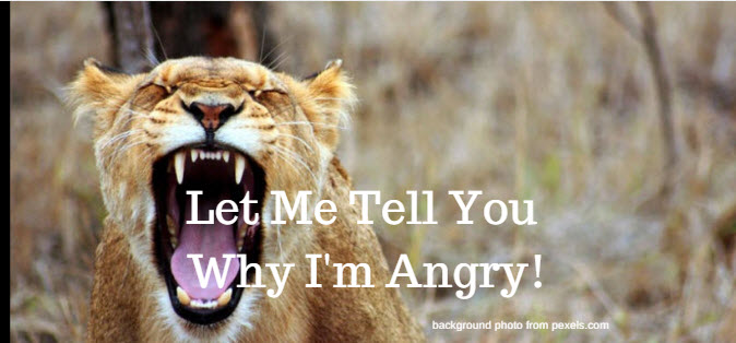 Let Me Tell You Why I'm Angry!