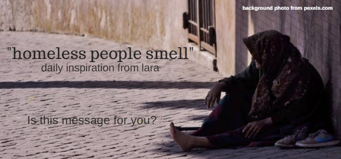 homeless people smell