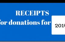 receipts for donations for 2016