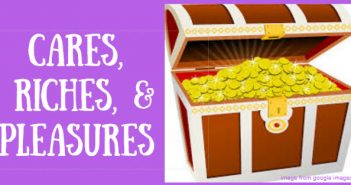 cares riches and pleasures