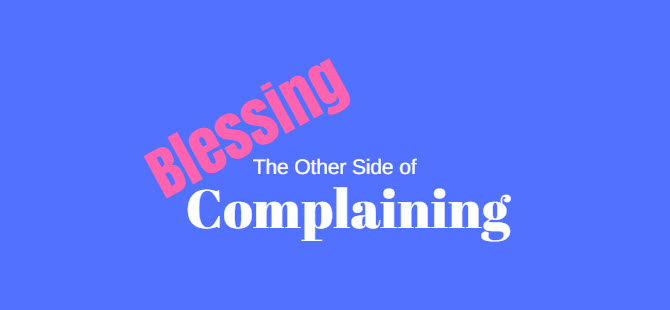 other side of complaining