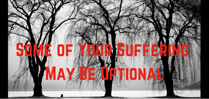 some of your suffering may be optional