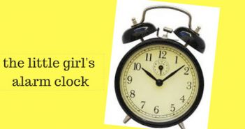 little girl's alarm clock