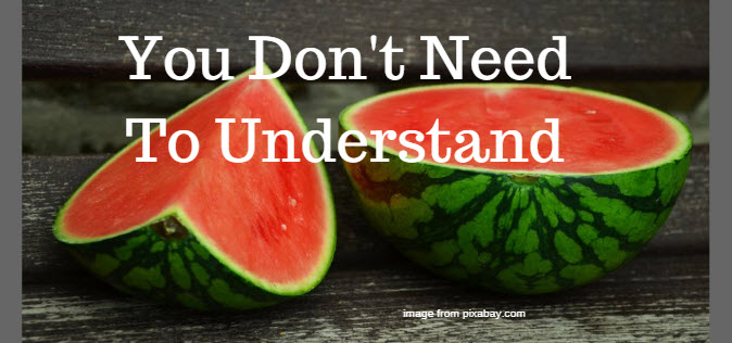 you don't need to understand