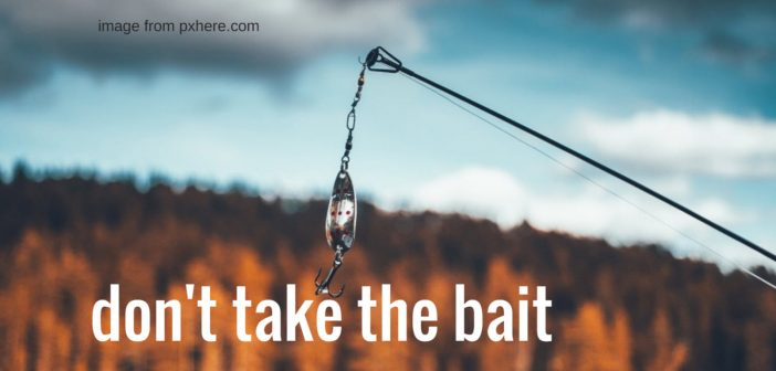 don't take the bait