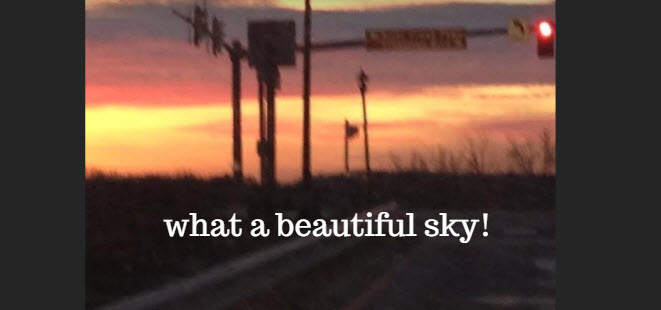 what a beautiful sky