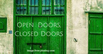 open doors closed doors