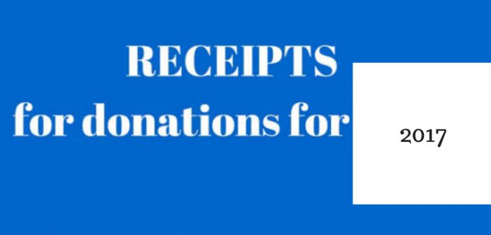 receipts for donations 2017