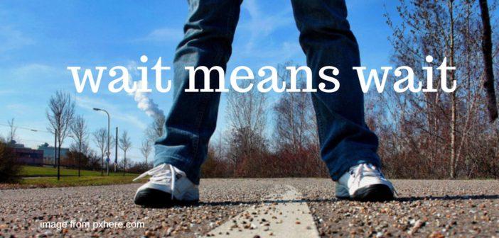 wait means wait