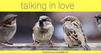 talking in love