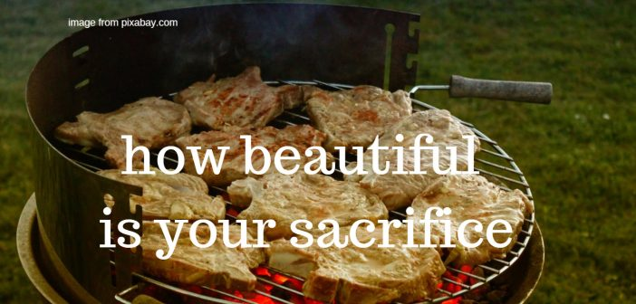 how beautiful is your sacrifice