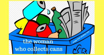 woman who collects cans