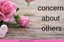 concern about others