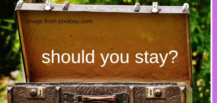 should you stay
