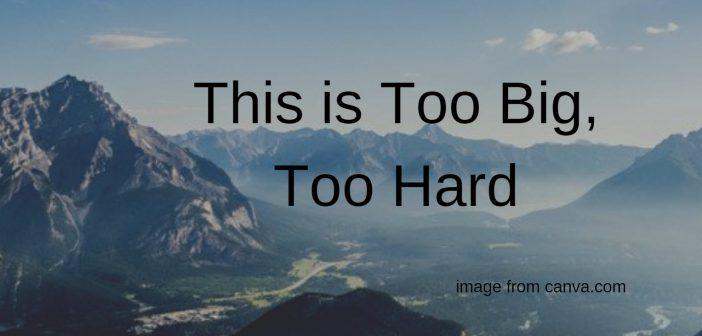 too big too hard