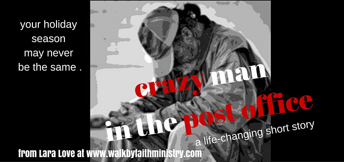 crazy man in post office