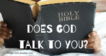 does god talk to you