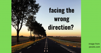 facing the wrong direction