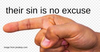 sin is no excuse